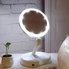 Косметическое зеркало с подсветкой (с увеличением)