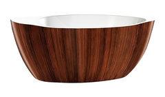 Акриловая ванна Lagard VERSA Brown Wood 174х84 см