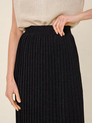 Женская юбка черного цвета из вискозы - фото 5