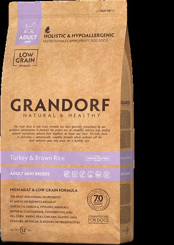Grandorf Dog Turkey&Rice MINI сухой корм для собак мелких пород (индейка с рисом) 3кг
