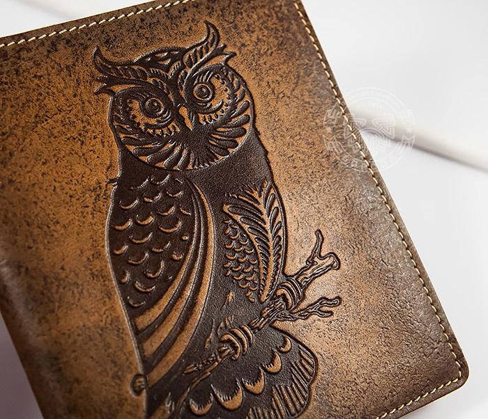 Визитница кардхолдер из натуральной кожи «Сова» на 36 карт
