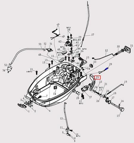Ручка п-п для лодочного мотора F9.8 Sea-PRO (2-25)
