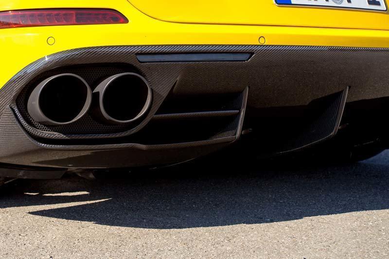 Карбоновые рассекатели вертикальные в диффузор Novitec Style для Ferrari California