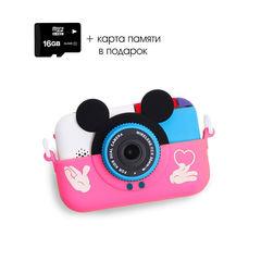 детский цифровой фотоаппарат микки+карта памяти в подарок
