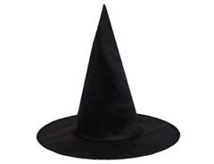 Шляпа ведьмы черная, 34см, 1шт.