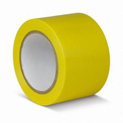 Клейкая лента для разметки ПВХ 75 мм x 33 м желтая (KMSG07533)