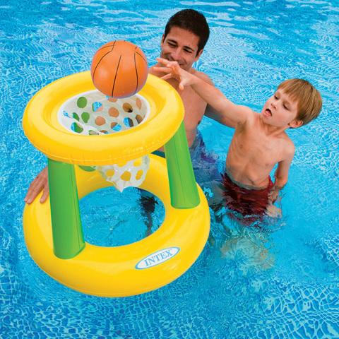 Корзина баскетбольная Intex, надувная с мячом