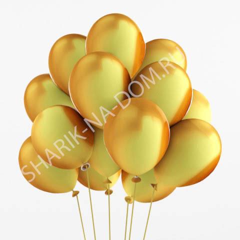Оформление шариками 1 сентября Золотые воздушные шары Шары_под_потолок_золотые.jpg