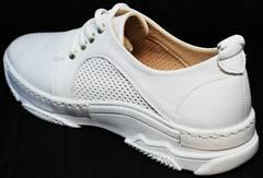 Кожаные летние туфли на спортивной подошве Derem 18-104-04 All White