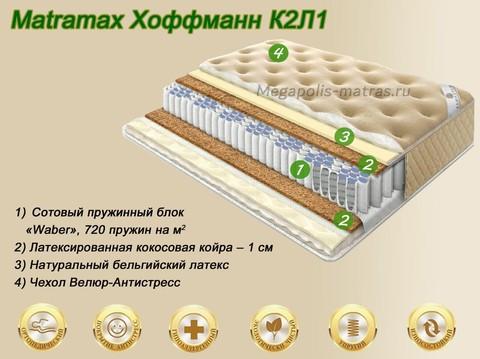 Матрас Матрамакс Хоффманн К2Л1 купить в Москве от Megapolis-matras.ru