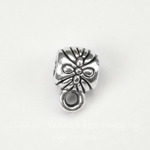 Бейл 9х7х6 мм (цвет - античное серебро)