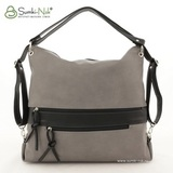 Сумка Саломея 387 серый + черный (рюкзак)