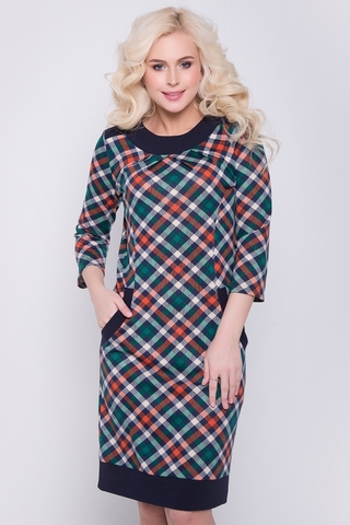 <p>Хит сезона! Шикарное платье на каждый день. Модель выполнена из мягкого трикотажа, прямой силуэт, рукав 3/4. Функциональные карманы. Отличный офисный вариант.</p> <div>Длина платья по спинке :</div> <div>46р-54р = 97см(все размеры)</div>