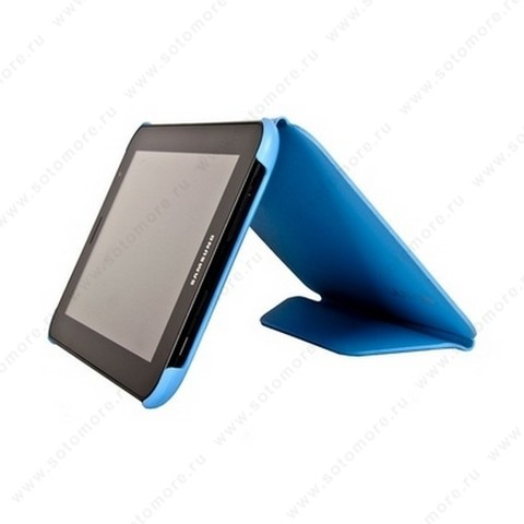 Чехол-книжка Book Cover для Samsung Galaxy Tab 7.0 Plus P6200 голубой