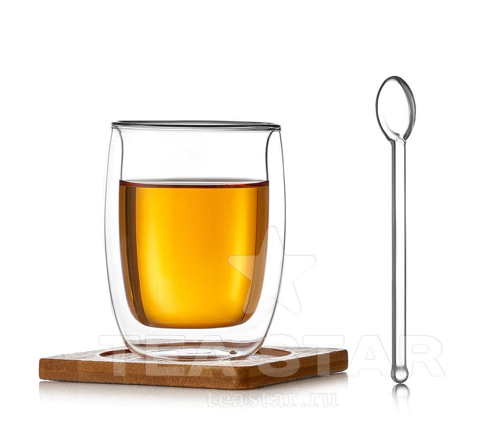 Чашки с двойными стенками Стакан с двойными стенками с подставкой и ложкой, 200 мл chashka_s_dvoynimi_stenkami_nabor_200ml.jpg