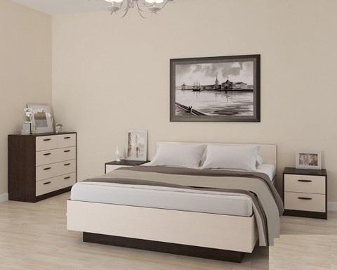 Спальня модульная ВЕГА-22 малая венге / дуб паллада