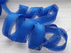 Лента репсовая Перфорированная синяя ширина 30 мм