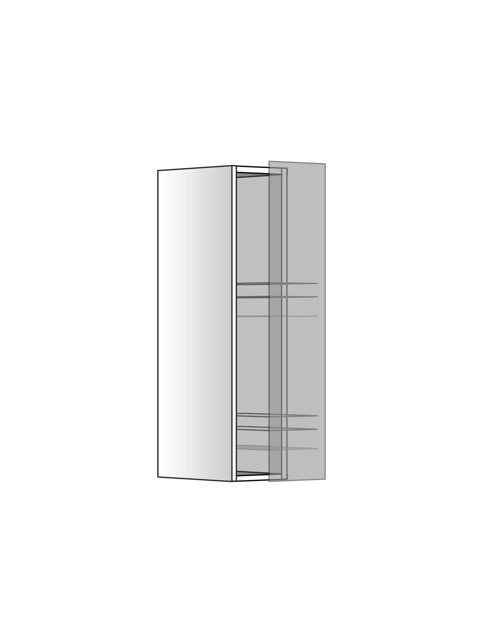 "Верхний шкаф ""Бутылочница"", 720Х150 мм"