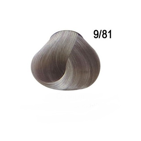 Перманентная крем краска для волос Ollin 9/81 жемчужно пепельный блондин