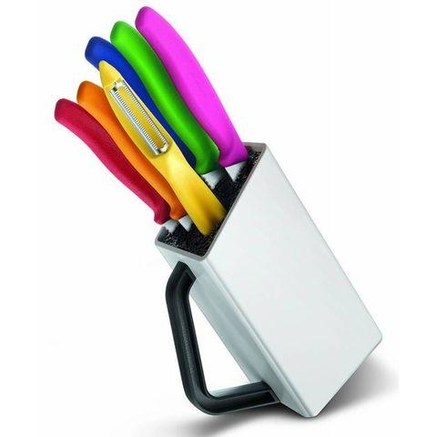Набор ножей для кухни Victorinox Classic (6.7127.6L14) несколько размеров ножей микс в подставке