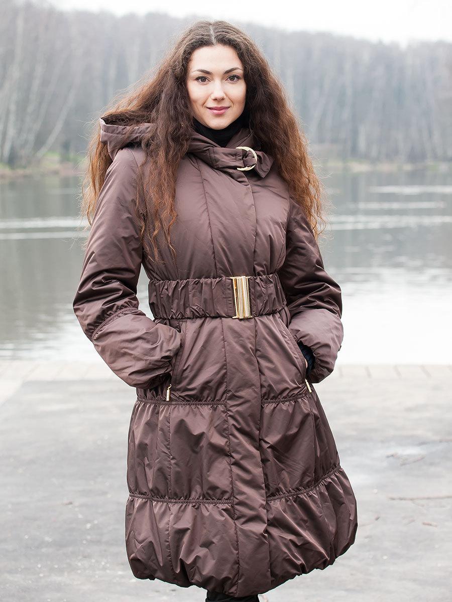 Joutsen пуховик Cherie шоколад - Фото 1