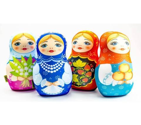 Подушка-игрушка антистресс «Матрешка зимняя» 5