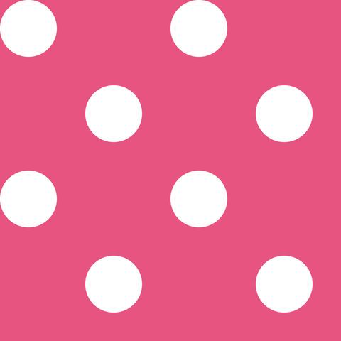 Креп сатин темно-розовый в белый горох 1 см