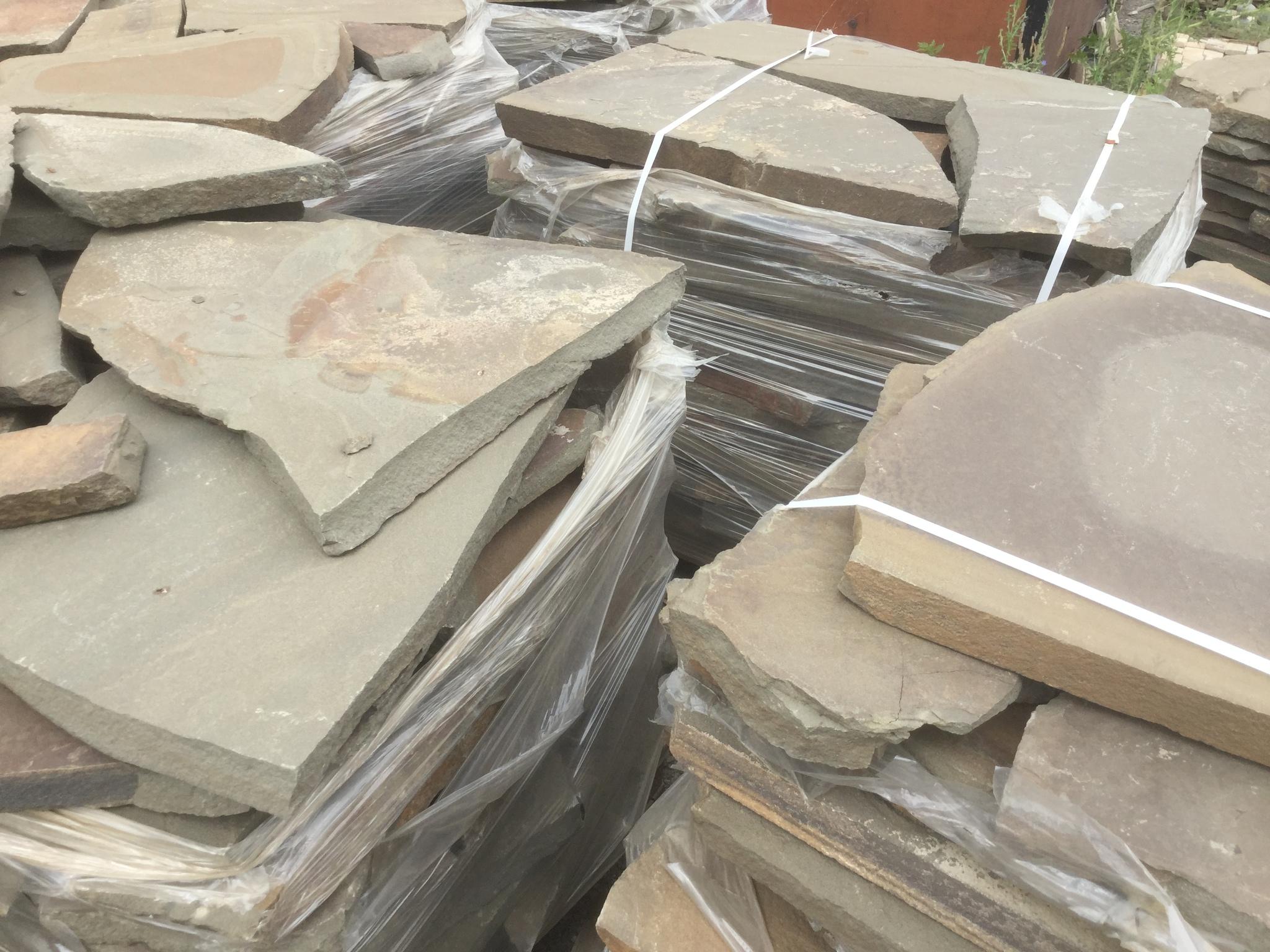 Карьер Песчаник плитняк Серо-зелёные плахи