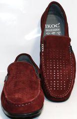 Туфли мокасины мужские IKOC 1555-3 Red.