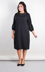 Рима. Элегантное платье больших размеров. Черный.