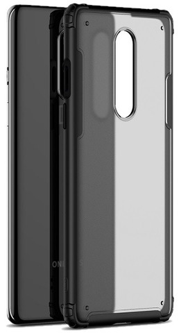 Чехол защитный на OnePlus 8 черные рамки, серия Ultra Hybrid от Caseport