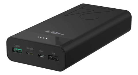 Универсальный аккумулятор ANSMANN Powerbank 24000 mA-черный