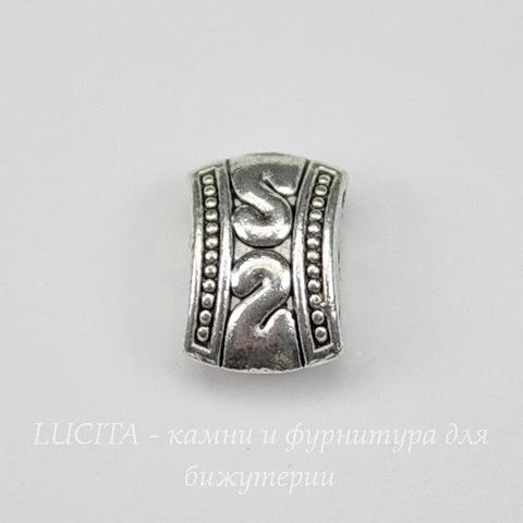 Разделитель на 3 нити (цвет - античное серебро) 11х8х5 мм
