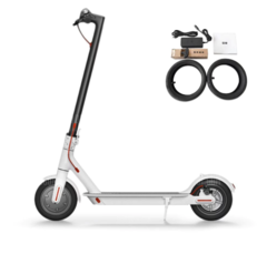 Электросамокат Xiaomi MiJia Smart Electric Scooter White M365 (RU+покрышки) белый
