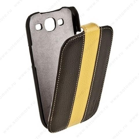 Чехол-флип Melkco для Samsung Galaxy S3 i9300 Limited Edition Jacka Type (Black/Yellow LC)