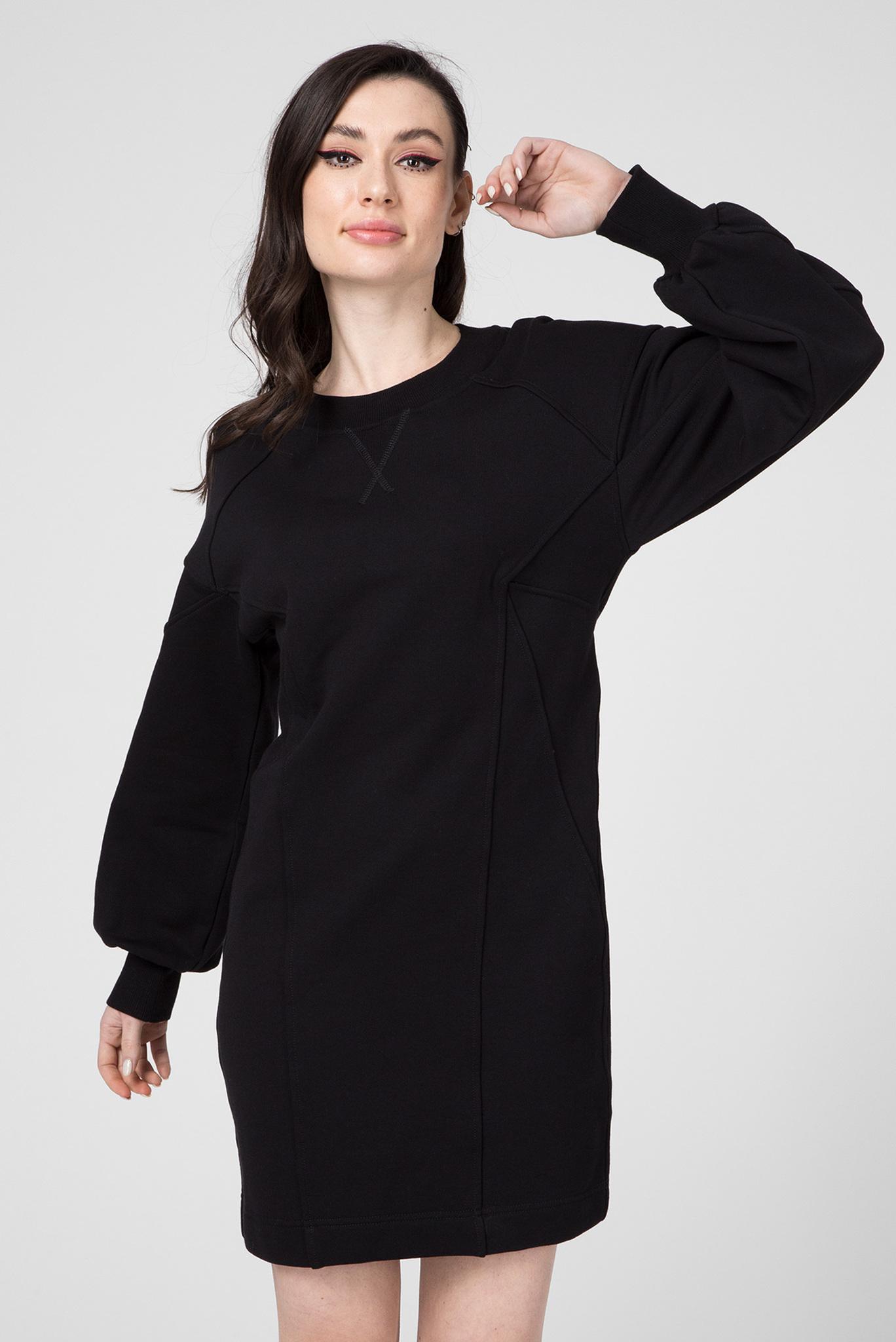 Женское черное платье D-THUS DRESS Diesel