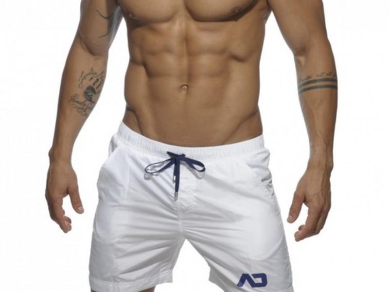 Мужские шорты удлиненные белые Addicted Sport Shorts white