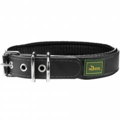 Ошейник для собак Hunter Convenience Comfort 60 (47-55 см)/2,5 см мягкая горловина водоотталкивающий материал, черный