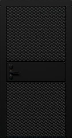 Входная дверь «Credo» в цвете, Графит черный (эмаль)