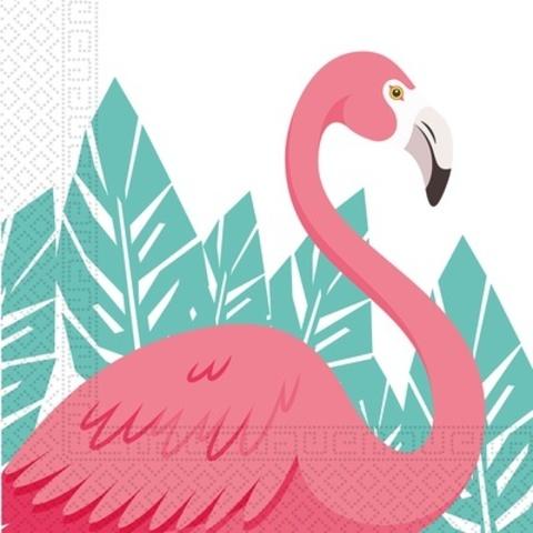 Салфетка Фламинго 33см 20шт
