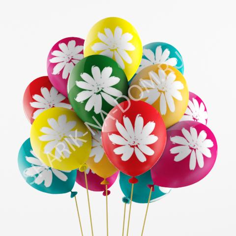 """С рисунком Воздушные шары """"Ромашки"""" Ромашки.jpg"""