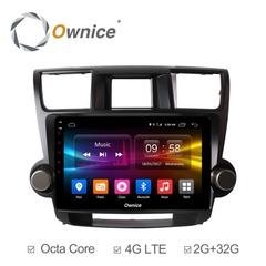 Штатная магнитола на Android 6.0 для Toyota Highlander 07-14 Ownice C500+ S1616P