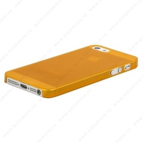 Накладка Sotomore супертонкая для iPhone SE/ 5s/ 5C/ 5 оранжевая