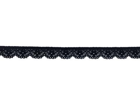 Кружево эластичное черное 1,5 см