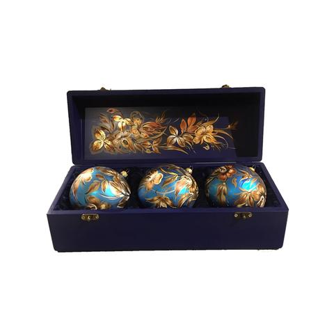 Набор из 3 елочных шаров в шкатулке SET04D-667785849