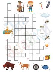 Рабочая тетрадь для детей от 5 лет Ребусы и кроссворды