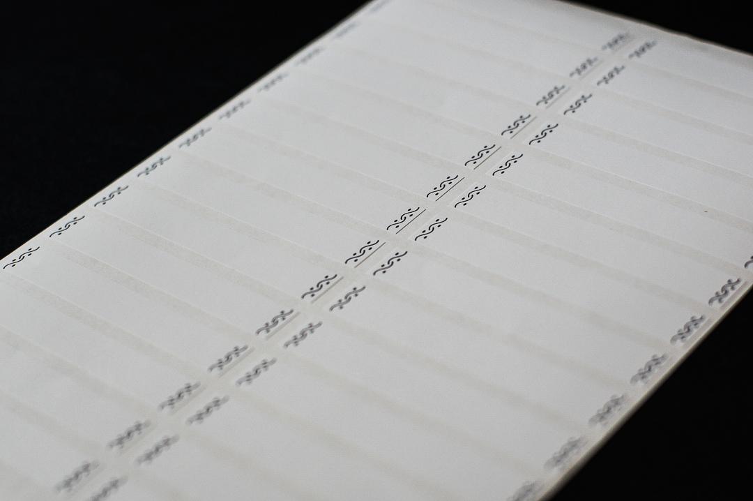 Набор наклеек 10х2 см, для полок, папок, книг, 2 листа, узор