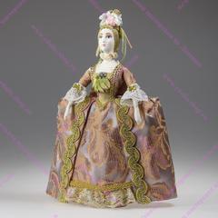 Фрейлина - кукла в платье начала 18 века со складками Ватто