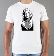 Футболка с принтом Мэрилин Монро  (Marilyn Monroe) белая 003