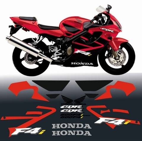 Набор виниловых наклеек на мотоцикл HONDA CBR 600 F4i 2001